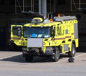 Brandbilar utryckning